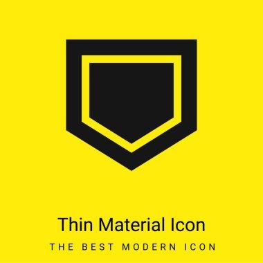 Base minimal bright yellow material icon stock vector