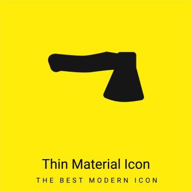 Ax minimal bright yellow material icon stock vector