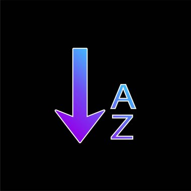 Alphabetical Order blue gradient vector icon