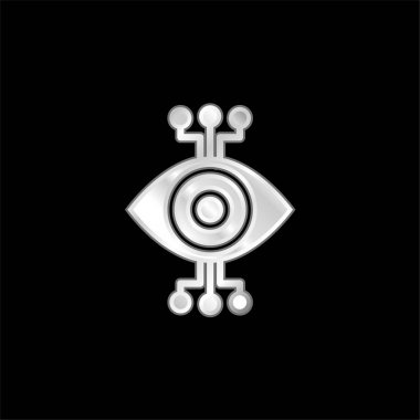 Bionic Eye silver plated metallic icon