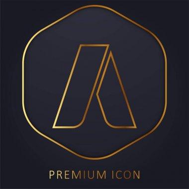 Adwords golden line premium logo or icon