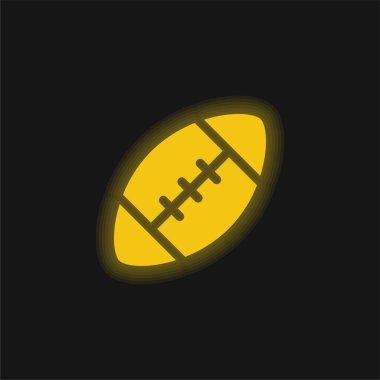 American Football yellow glowing neon icon stock vector