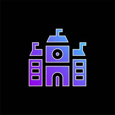 Academy blue gradient vector icon stock vector