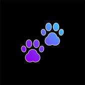 Zvíře Vytiskne modrou ikonu přechodu
