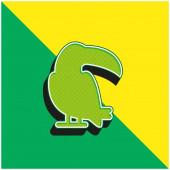 Big Toucan Grün und gelb modernes 3D-Vektor-Symbol-Logo