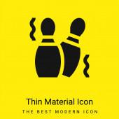 Bowling csapok minimális fényes sárga anyag ikon
