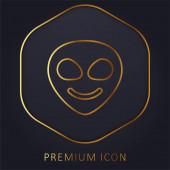 Alien golden line premium logo or icon