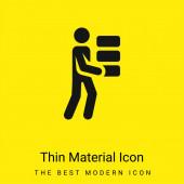 Ziegel minimalen leuchtend gelben Material Symbol