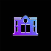 Bank kék gradiens vektor ikon