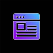 Ikona vektoru modrého přechodu blogu