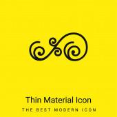Asymetrický květinový design spirál minimální jasně žlutý materiál ikona