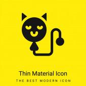 Balón minimální jasně žlutý materiál ikona