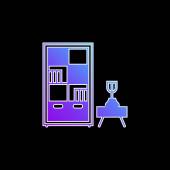 Vektorová ikona modrého přechodu knihovny