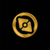 Big Point Compass vergoldet metallisches Symbol oder Logo-Vektor