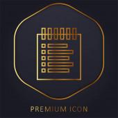 Foglalási lista arany vonal prémium logó vagy ikon
