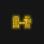 B2b sárga izzó neon ikon