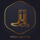 Zavést prémiové logo nebo ikonu zlaté linie