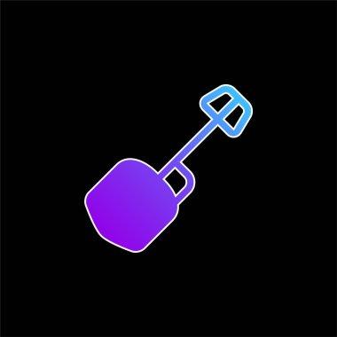 Big Shovel blue gradient vector icon stock vector