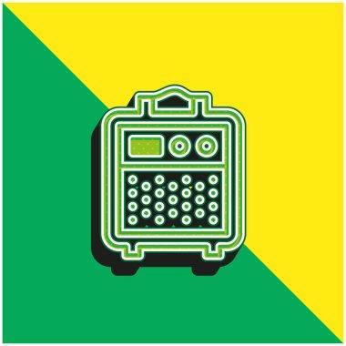 Amplifier Green and yellow modern 3d vector icon logo stock vector