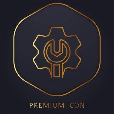 Admin golden line premium logo or icon stock vector