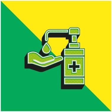 Antibacterial Gel Green and yellow modern 3d vector icon logo stock vector