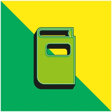 Book Gross Black Shape Green and yellow modern 3d vector icon logo stock vector
