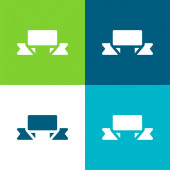 Banner Lapos négy szín minimális ikon készlet