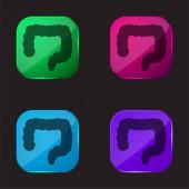 Big Intestines Vier-Farben-Glas-Taste Symbol