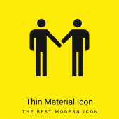 Vereinbarung minimales hellgelbes Materialsymbol