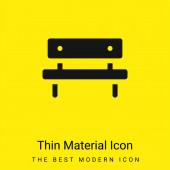 Lavička minimální jasně žlutý materiál ikona