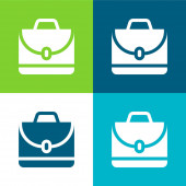 Aktovka Byt čtyři barvy minimální ikona nastavena