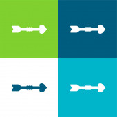 Arrow Flat four color minimal icon set
