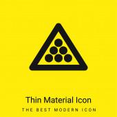 Billiard minimální jasně žlutý materiál ikona