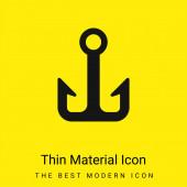 Anchor minimal bright yellow material icon