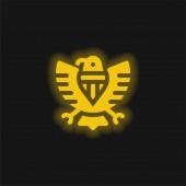 Amerikanische gelbe Leuchtneon-Ikone