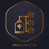 Bio Energy goldene Linie Premium-Logo oder Symbol
