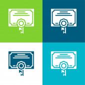 Ocenění Byt čtyři barvy minimální ikona nastavena