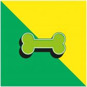 Csont Zöld és sárga modern 3D vektor ikon logó