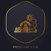 Logo nebo ikona prémiové linie stodoly