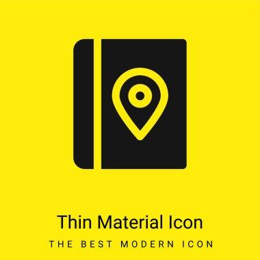 Book minimal bright yellow material icon stock vector