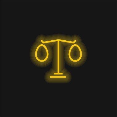 Balance yellow glowing neon icon stock vector