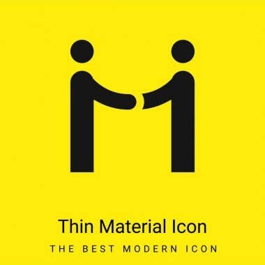 Agreement minimal bright yellow material icon stock vector