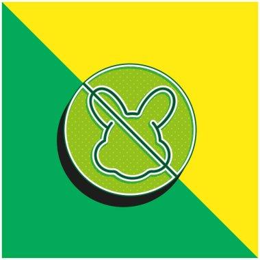 Animal Cruelty Green and yellow modern 3d vector icon logo