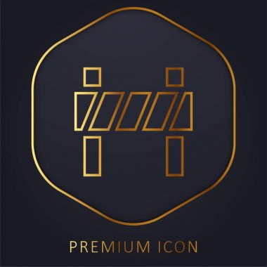 Barrier golden line premium logo or icon stock vector