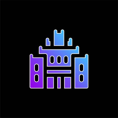 African Heritage House blue gradient vector icon