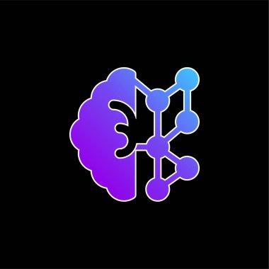 AI blue gradient vector icon stock vector