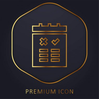 Advantages golden line premium logo or icon stock vector