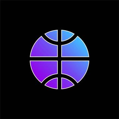Basketball Ball blue gradient vector icon stock vector