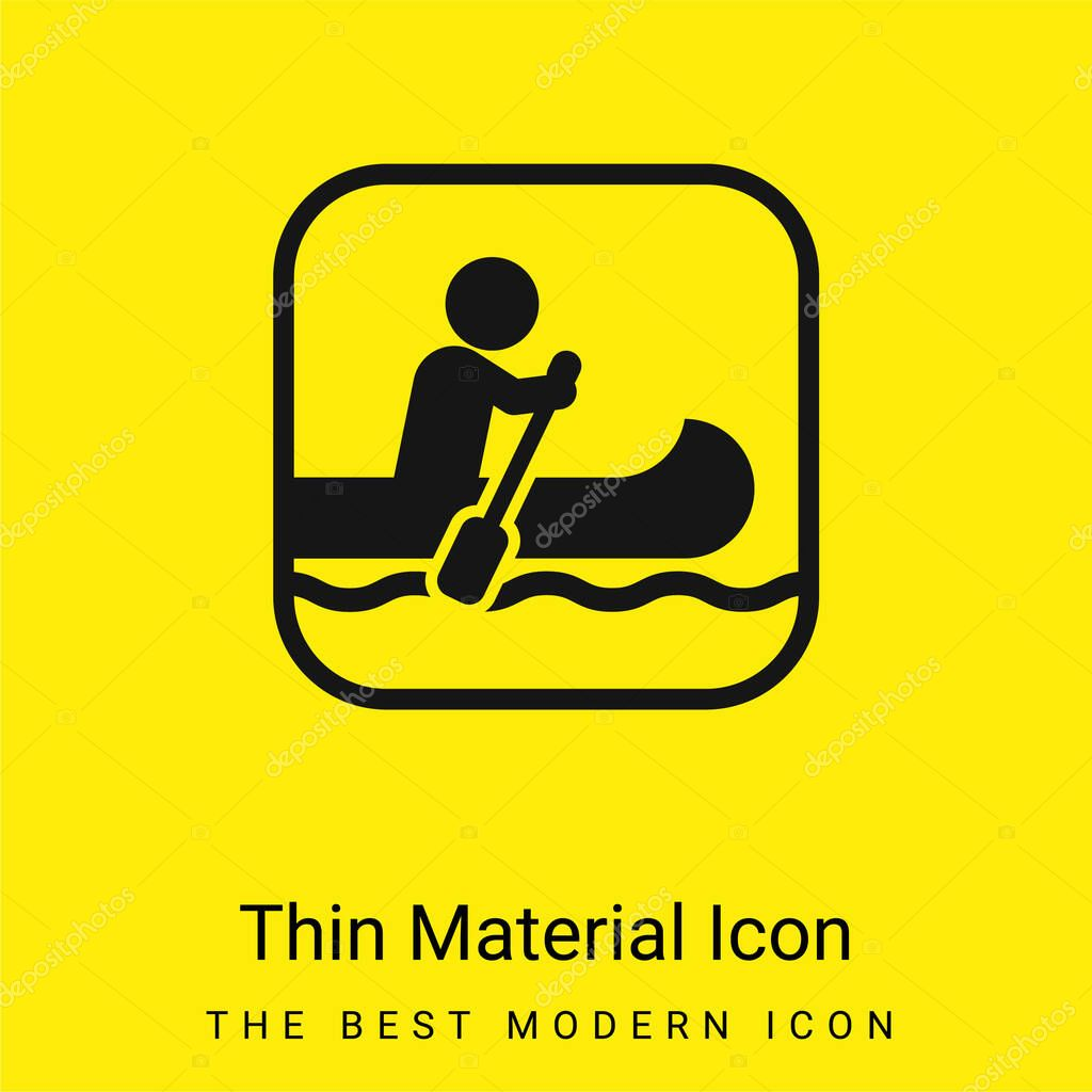 Segno nautico icona materiale giallo brillante minimo