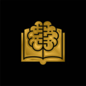 Kniha pozlacených kovových ikon nebo vektorů loga